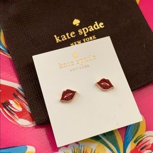 NWT Kate Spade ♠️ Things We Love Lip Earring Studs